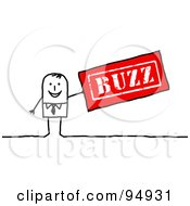 Stick People Businessman With A Red Buzz Stamp by NL shop