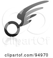Royalty Free RF Clipart Illustration Of A Black And Gray Wing Logo Design Or App Icon 13 by elena