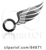 Royalty Free RF Clipart Illustration Of A Black And Gray Wing Logo Design Or App Icon 8