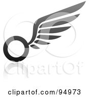 Royalty Free RF Clipart Illustration Of A Black And Gray Wing Logo Design Or App Icon 7