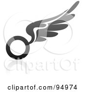 Royalty Free RF Clipart Illustration Of A Black And Gray Wing Logo Design Or App Icon 14 by elena