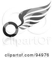 Royalty Free RF Clipart Illustration Of A Black And Gray Wing Logo Design Or App Icon 1 by elena