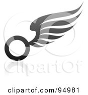 Royalty Free RF Clipart Illustration Of A Black And Gray Wing Logo Design Or App Icon 11 by elena