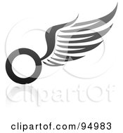 Royalty Free RF Clipart Illustration Of A Black And Gray Wing Logo Design Or App Icon 12 by elena