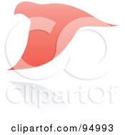 Royalty Free RF Clipart Illustration Of A Pink Dove Logo Design Or App Icon 1