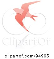 Royalty Free RF Clipart Illustration Of A Pink Swallow Logo Design Or App Icon 2