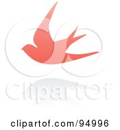 Royalty Free RF Clipart Illustration Of A Pink Swallow Logo Design Or App Icon 1
