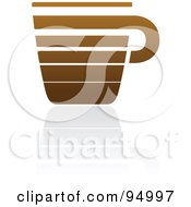 Royalty Free RF Clipart Illustration Of A Brown Horizontal Lined Coffee Logo Design Or App Icon 4 by elena