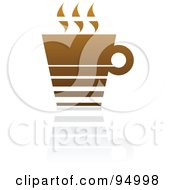 Royalty Free RF Clipart Illustration Of A Brown Horizontal Lined Coffee Logo Design Or App Icon 2 by elena
