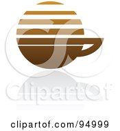 Royalty Free RF Clipart Illustration Of A Brown Horizontal Lined Coffee Logo Design Or App Icon 3 by elena