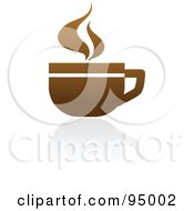 Royalty Free RF Clipart Illustration Of A Brown Coffee Logo Design Or App Icon 1 by elena