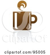 Royalty Free RF Clipart Illustration Of A Brown Coffee Logo Design Or App Icon 4 by elena