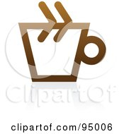 Royalty Free RF Clipart Illustration Of A Brown Outlined Coffee Logo Design Or App Icon 1 by elena