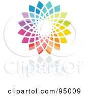 Royalty Free RF Clipart Illustration Of A Rainbow Circle Logo Design Or App Icon 14 by elena