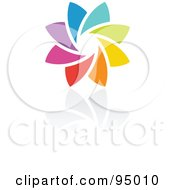 Royalty Free RF Clipart Illustration Of A Rainbow Circle Logo Design Or App Icon 12