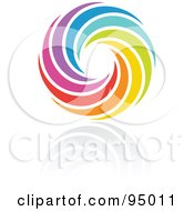 Royalty Free RF Clipart Illustration Of A Rainbow Circle Logo Design Or App Icon 13 by elena #COLLC95011-0147