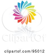 Royalty Free RF Clipart Illustration Of A Rainbow Circle Logo Design Or App Icon 9 by elena