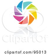 Royalty Free RF Clipart Illustration Of A Rainbow Circle Logo Design Or App Icon 7 by elena