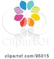 Royalty Free RF Clipart Illustration Of A Rainbow Circle Logo Design Or App Icon 3 by elena