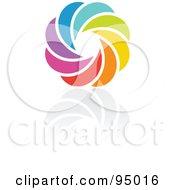 Royalty Free RF Clipart Illustration Of A Rainbow Circle Logo Design Or App Icon 2 by elena