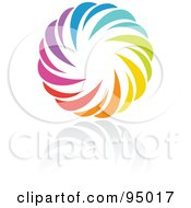 Royalty Free RF Clipart Illustration Of A Rainbow Circle Logo Design Or App Icon 15 by elena