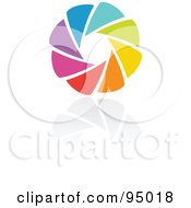Royalty Free RF Clipart Illustration Of A Rainbow Circle Logo Design Or App Icon 5 by elena