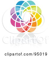 Royalty Free RF Clipart Illustration Of A Rainbow Circle Logo Design Or App Icon 16
