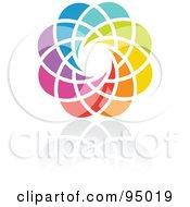 Rainbow Circle Logo Design Or App Icon 16