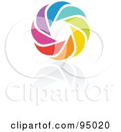 Royalty Free RF Clipart Illustration Of A Rainbow Circle Logo Design Or App Icon 10 by elena