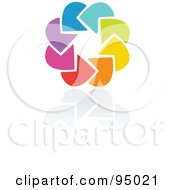Royalty Free RF Clipart Illustration Of A Rainbow Circle Logo Design Or App Icon 6 by elena