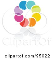 Royalty Free RF Clipart Illustration Of A Rainbow Circle Logo Design Or App Icon 8 by elena