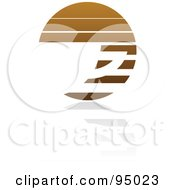 Royalty Free RF Clipart Illustration Of A Brown Horizontal Lined Coffee Logo Design Or App Icon 1