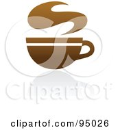 Royalty Free RF Clipart Illustration Of A Brown Coffee Logo Design Or App Icon 3 by elena