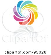 Royalty Free RF Clipart Illustration Of A Rainbow Circle Logo Design Or App Icon 4