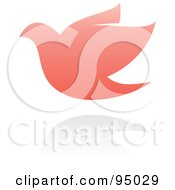 Royalty Free RF Clipart Illustration Of A Pink Dove Logo Design Or App Icon 2 by elena