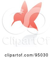 Royalty Free RF Clipart Illustration Of A Pink Hummingbird Logo Design Or App Icon 3