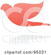 Royalty Free RF Clipart Illustration Of A Pink Parrot Logo Design Or App Icon 4 by elena