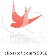 Royalty Free RF Clipart Illustration Of A Pink Swallow Logo Design Or App Icon 3
