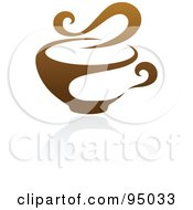 Royalty Free RF Clipart Illustration Of A Brown Steamy Coffee Logo Design Or App Icon 3