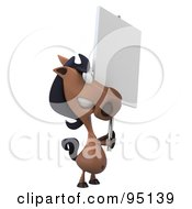 Royalty Free RF Clipart Illustration Of A 3d Charlie Horse Character With A Blank Sign 4