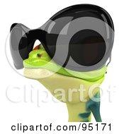 3d Argie Frog Wearing Sunglasses - 2
