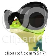 Royalty Free RF Clipart Illustration Of A 3d Argie Frog Wearing Sunglasses 2 by Julos