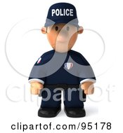 3d Police Toon Guy Pouting