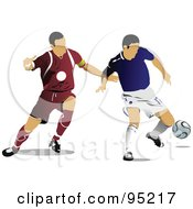 Two Soccer Athletes 1 by leonid