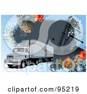 Big Rig Trucking Background 7 by leonid