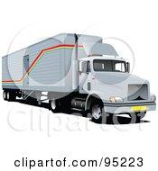 Gray Big Rig Truck by leonid