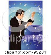 Royalty Free RF Clipart Illustration Of A Professional Music Conductor 3 by mayawizard101