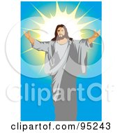 Royalty Free RF Clipart Illustration Of Jesus Holding His Arms Open 1 by mayawizard101 #COLLC95243-0158