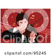 Royalty Free RF Clipart Illustration Of A Passionate Violinist 1 by mayawizard101