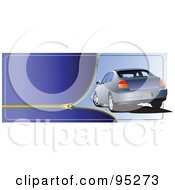 Royalty Free RF Clipart Illustration Of A Zipper And Car Header by leonid